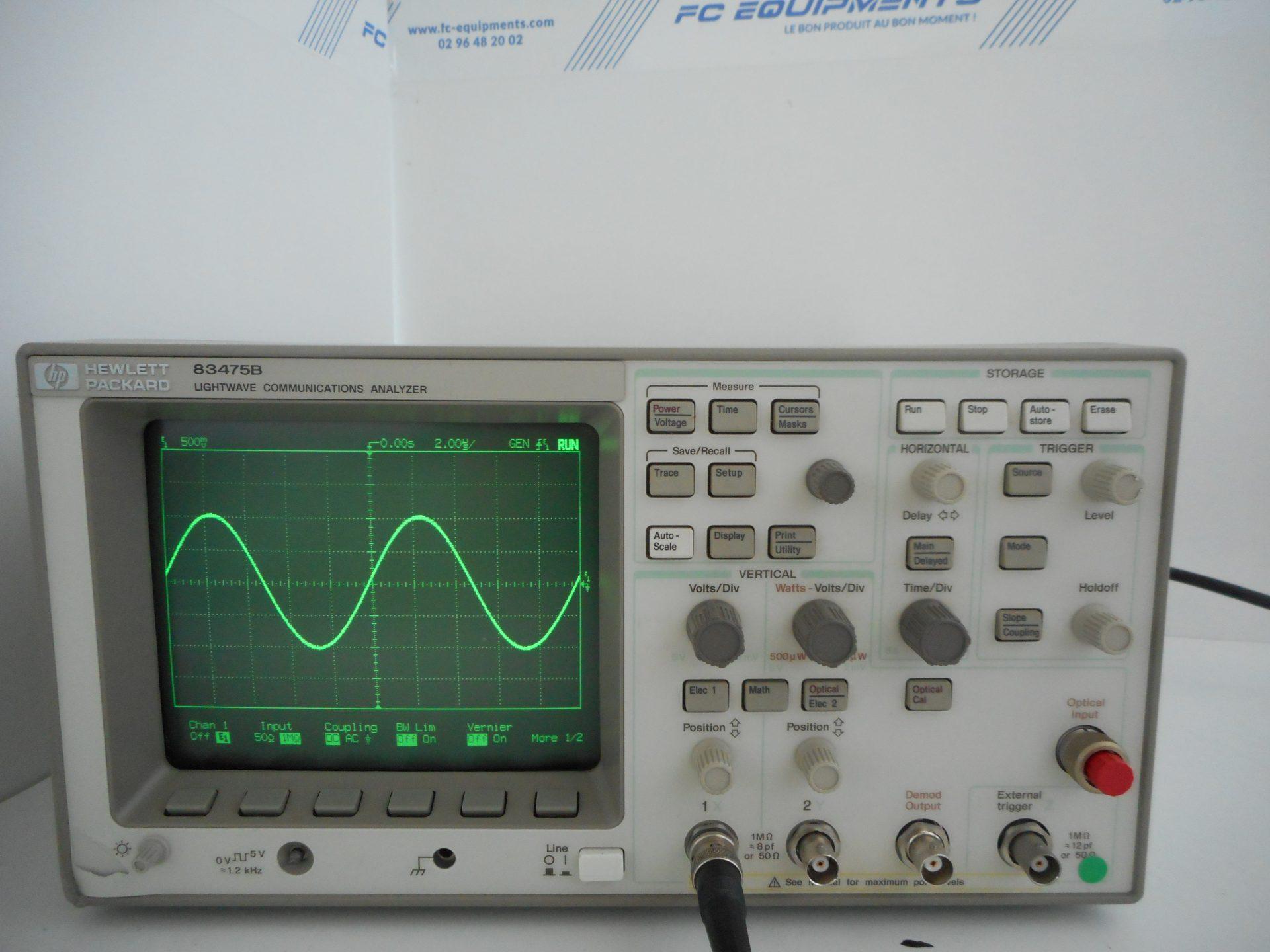 LIGHTWAVE COMMUNICATION ANALYZER - KEYSIGHT TECHNOLOGIES (AGILENT/HP)
