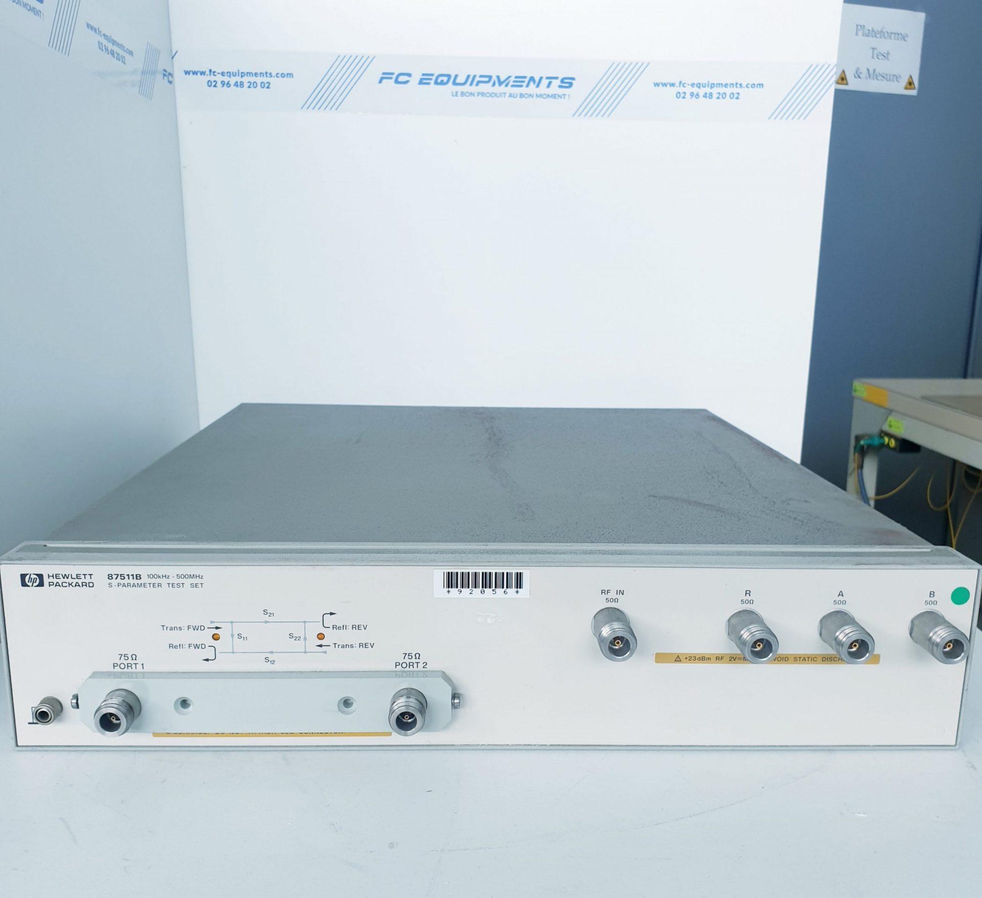 S-PARAMETER TEST SET 100KHz - 500MHz - KEYSIGHT TECHNOLOGIES (AGILENT/HP)
