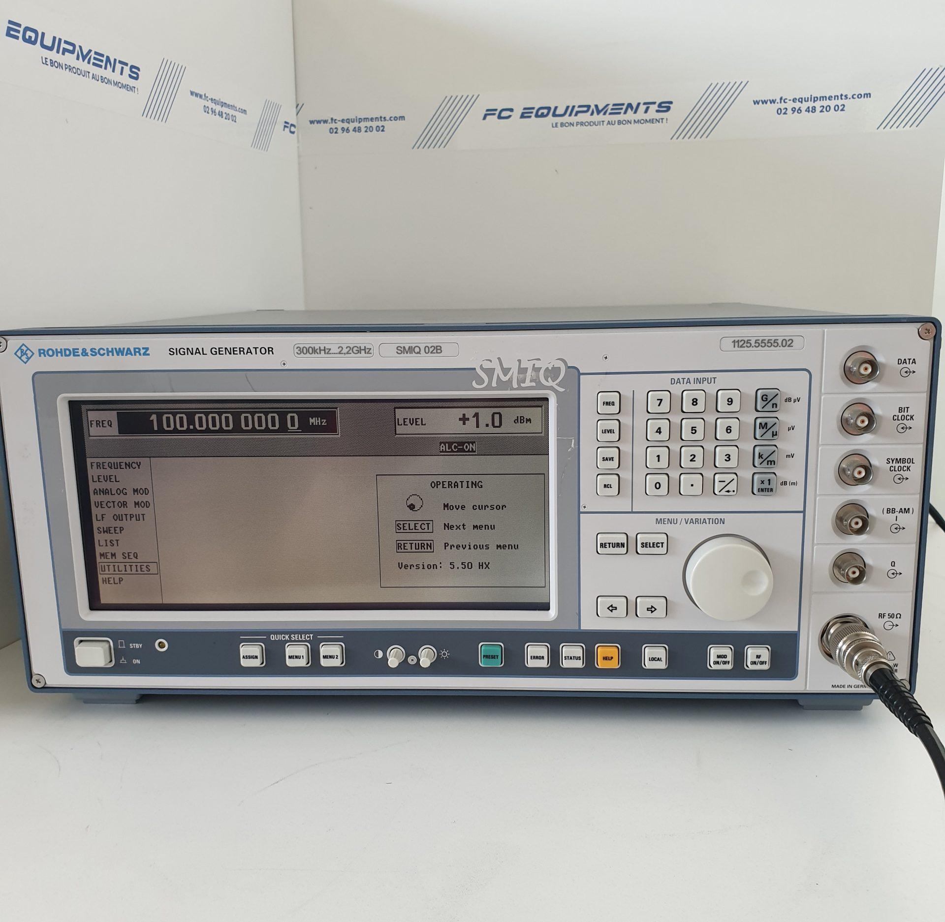 VECTOR SIGNAL GENERATOR 300KHz - 2.2GHz - ROHDE & SCHWARZ