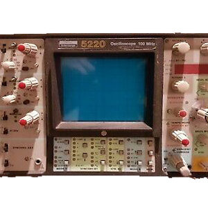 5220 - OSCILLOSCOPE ANALOGIQUE - ENERTEC SCHLUMBERGER - 100 MHz - 3 CH